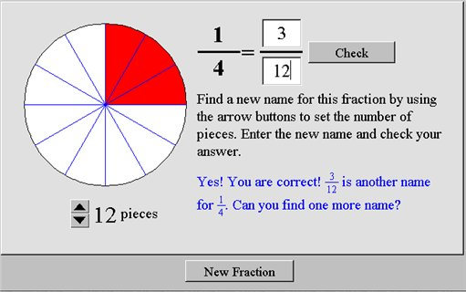 Equivalent Fractions Nlvm Maths Zone Cool Learning Games
