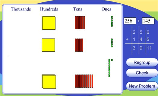 Addition of Three-Digit Numbers - Harcourt - Maths Zone Cool