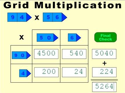 Grid Method Long Multi Mark Weddell Maths Zone Cool Learning Games