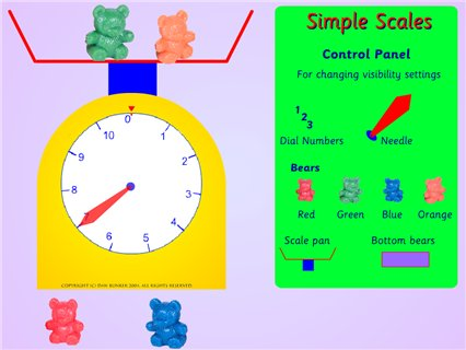 Simple scales - Crick - Maths Zone Cool Learning Games