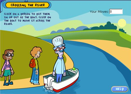 Crossing The River PBS Kids Maths Zone Cool Learning Games - River game